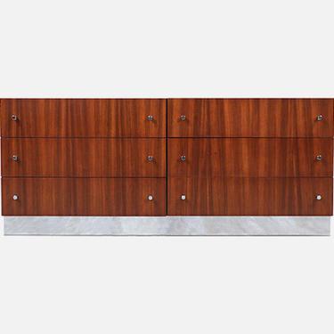Milo Baughman Rosewood & Chrome Dresser for Thayer Coggin