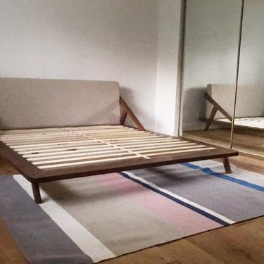 Modern Solid Walnut Bed Frame by CaliforniaMWoodworks