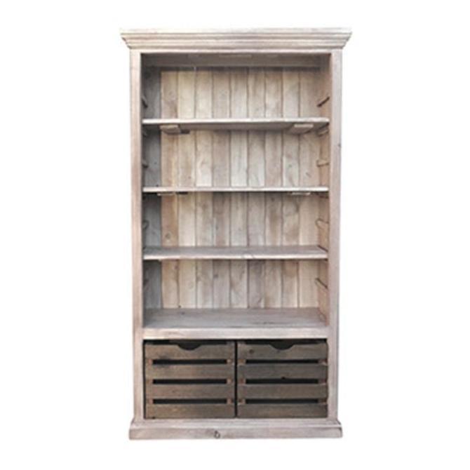 Bookcase, Bookshelves, Display Cabinet, Reclaimed Wood, Vintage, Rustic, Palisades, Crates by VintageMillWerks