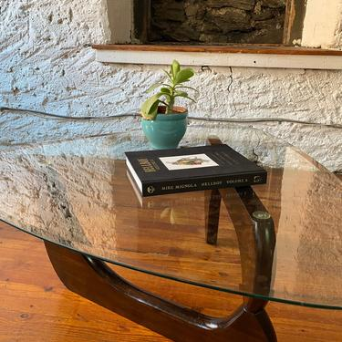 Mid century coffee table Noguchi coffe table mid century glass top coffee table by VintaDelphia