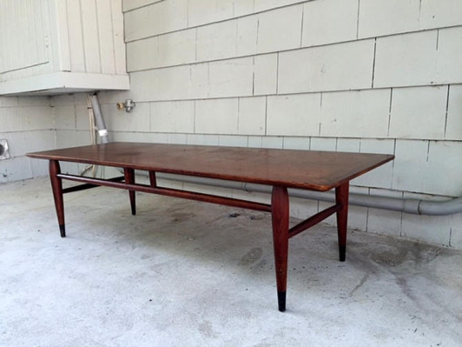 Coffee Table Pick Up Line.Local Pickup Preferred Midcentury 1960s Lane Virginia Maid Surfboard Coffee Table By Offmain