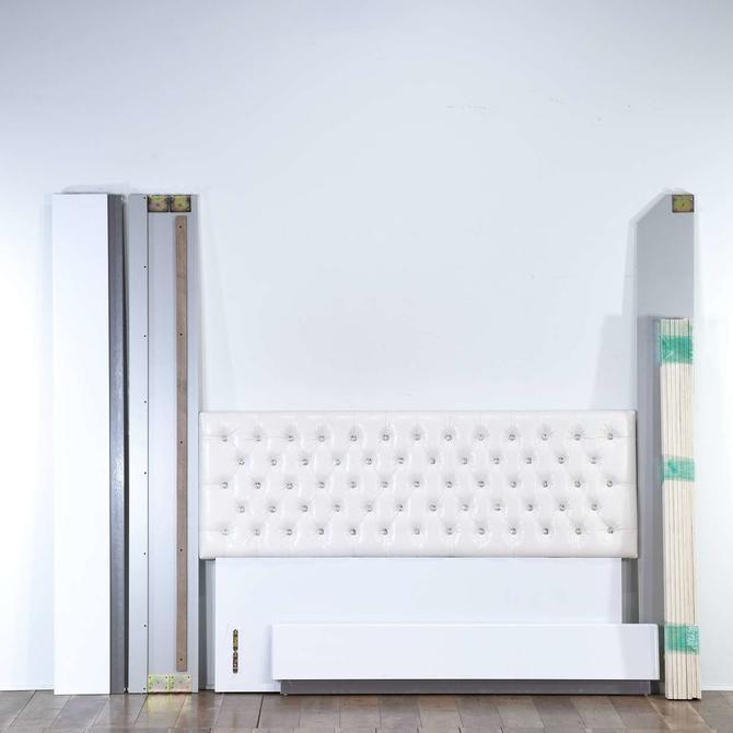 Modern White Tufted Bedframe