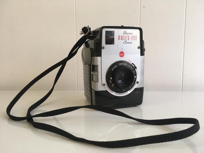 Vintage Kodak Brownie Bulls-Eye Camera 1950s Art Deco Made in the USA 120 Medium Format Film by CheckEngineVintage