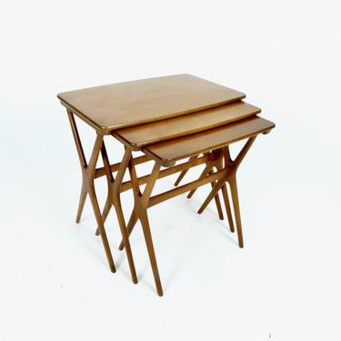 Three Danish Nesting Tables