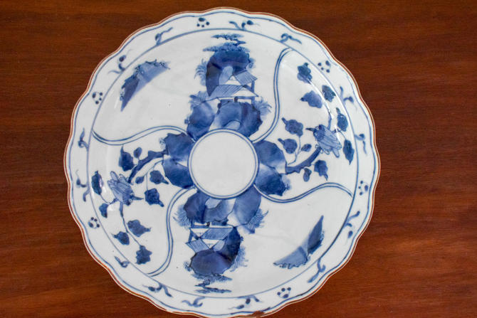 Blue and White Canton Platter Dish by CapitolVintageCharm
