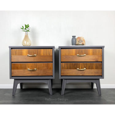 Mid Century Modern Bedside Tables by ReNuvoDesign