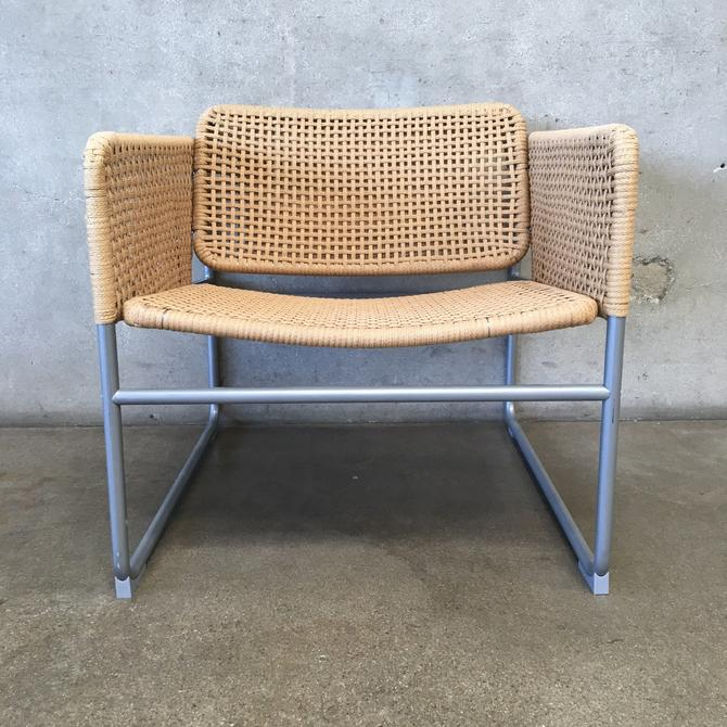 Woven Natural Fiber Lounge Chair