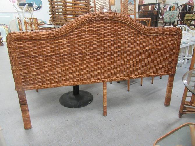 King Size Woven Rattan Headboard