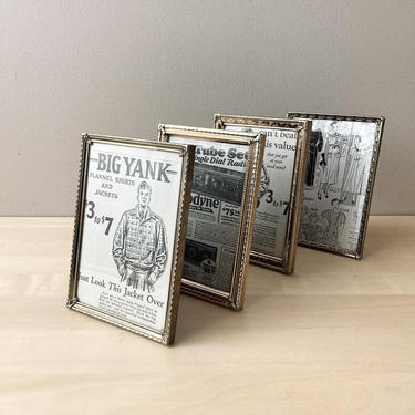 vintage brass photo frame 5 by 7 - instant collection brass picture frames by ionesAttic