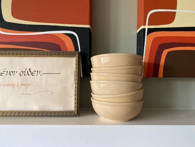 """Set of 6 Vintage Homer Laughlin 5.5"""" Bowls by DesertCactusVintage"""