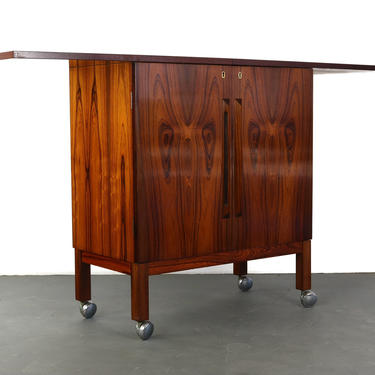 Expanding Bar Cart in Rosewood by Torbjorn Afdal by ABTModern