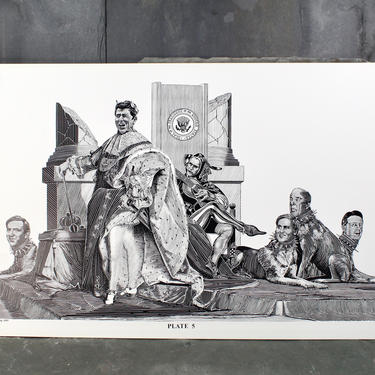 For RONALD REAGAN Fans! Reagan as Caesar by Christopher Bing, 1985, Plate 5 of 6 Portfolio - 1984 Election Art   Free Shipping by Bixley
