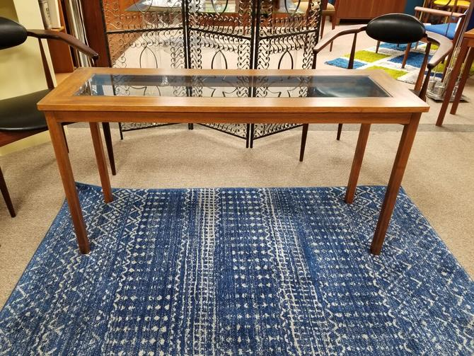Danish Modern teak and glass console / entryway table