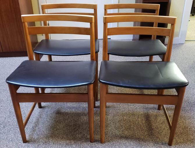 Item #W426 Set of Four Vintage Dining Chairs c.1960