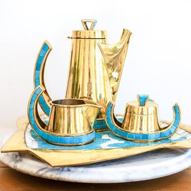 Designer Vintage Signed Salvador Teran Tea/Coffee Service Set by PortlandRevibe