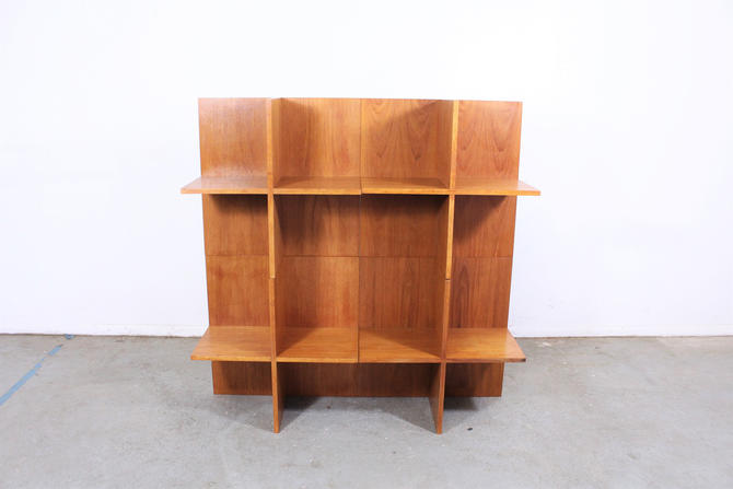 Mid Century Danish Modern Teak Bookshelf by AnnexMarketplace