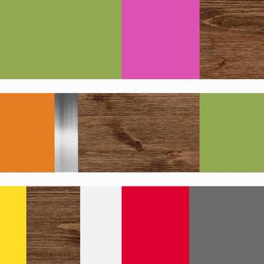 "CUSTOM ORDER - Rhonda - Mod Colorblock 60x36"" by LauraAshleyWoodArt"