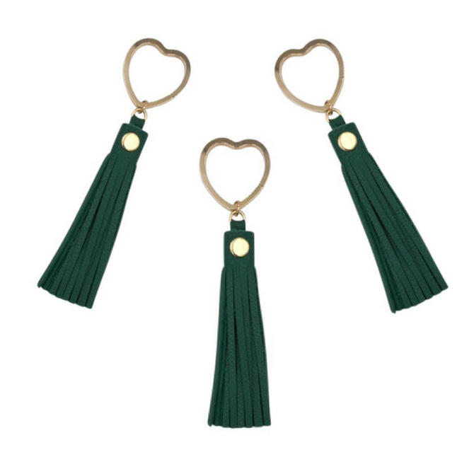 Heart Key Ring by Sarah Cecelia Green Tassel Key Ring by SarahCecelia