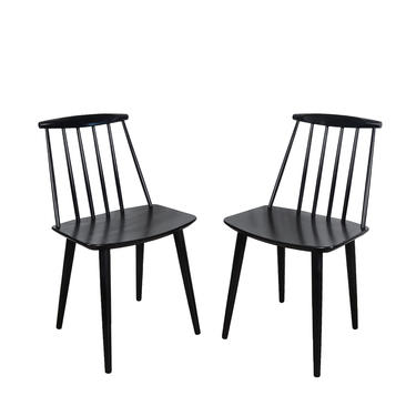 Chair Folke Palsson for FDB Mobler j77 set of 4 chairs in Walnut Danish Modern by HearthsideHome