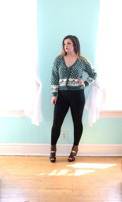 e643877ab1 80s Vintage Cardigan Sweater