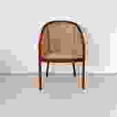 1970s Ward Bennett Cane Arm Chair