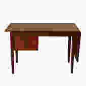 Teak Expanding Arne Vodder Desk w/ Adjustable Drawers