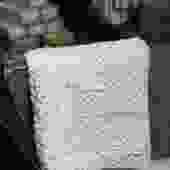 Grey Recycled Plastic Blend Lattice Hand Towel