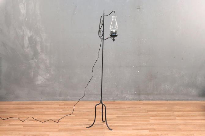 Iron Adjustable Glass Chimney Floor Lamp – ONLINE ONLY