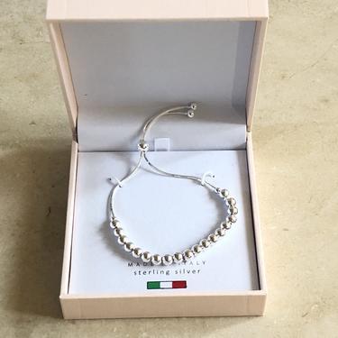 Silver Italian beaded bracelet