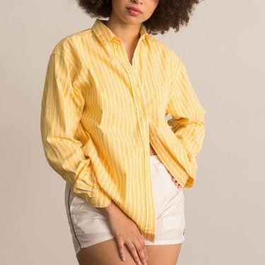 1990s Brooks Brothers Yellow Pinstripe Oxford by waywardcollection