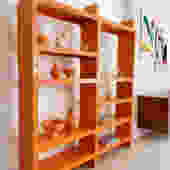 Vintage Modular Olaf Von Bohr for Kartell Orange Bookcase