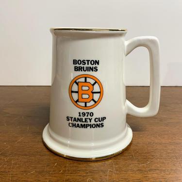 Vintage 1970 Boston Bruins Stanley Cup Beer Stein Mug Made in USA by OverTheYearsFinds