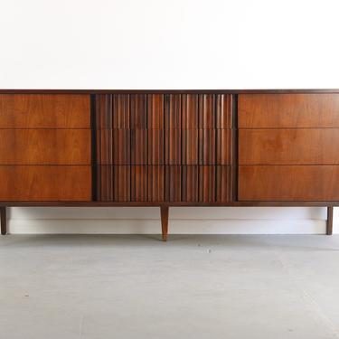 Exceptional Contoured Dresser / Credenza by Edmond Spence, Sweden by ABTModern