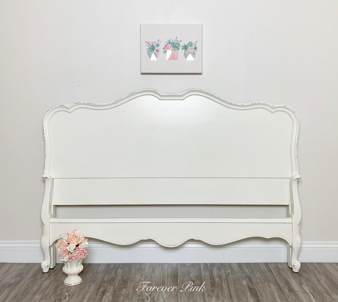 Vintage French Provincial Bed Full Or, French Country Queen Bed