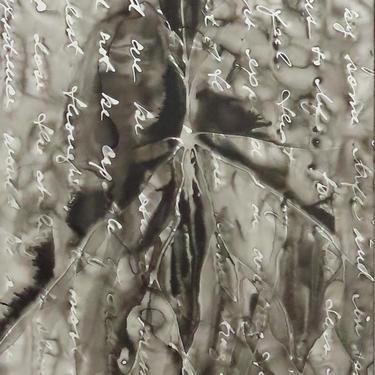 Awakened Memory: Original ink painting on yupo of neurons - neuroscience art literature Sebald by artologica