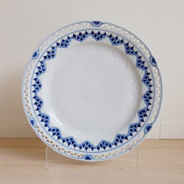 Rare Kronberg Bing and Grondahl Porcelain Dinner Plate with Pierced Lace Border Made in Denmark, 624.6 by MidCentury55