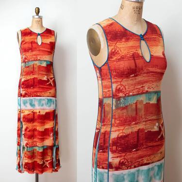 Printed Mesh Dress   Jean Paul Gaultier by FemaleHysteria