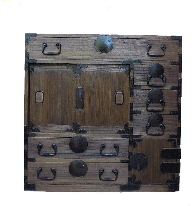 16D5 Choba Tansu w/Hidden Secret Box