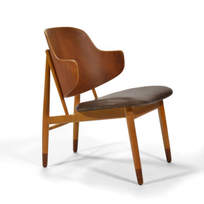 Ib Kofod-Larsen Easy Chair with Leather Seat