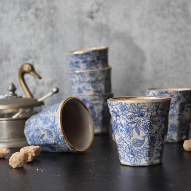 Espresso mug , Ceramic Espresso Cup, 4 oz cup ,  Macchiato cup, coffee lover gifts, Housewarming gift by claylicious