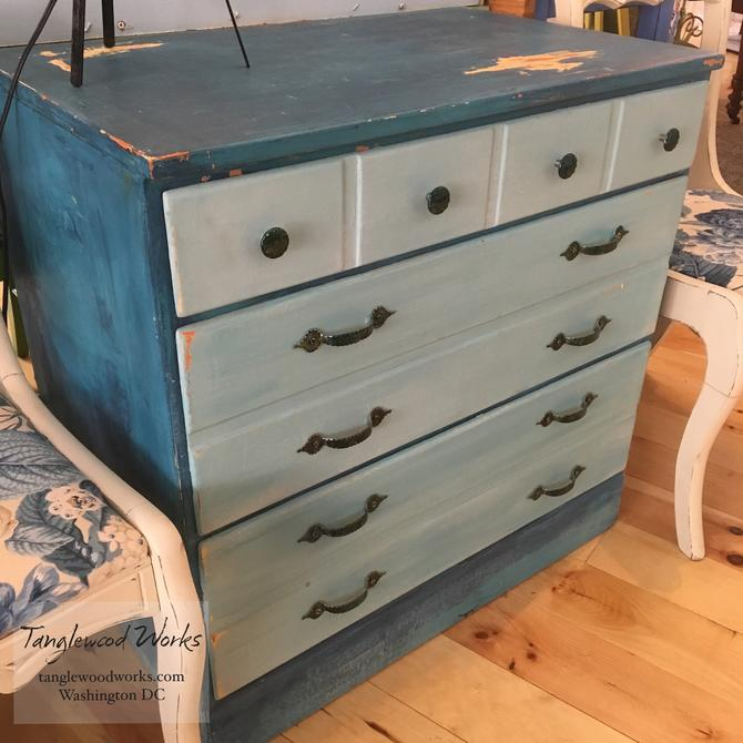 Hand Painted Beach style dresser