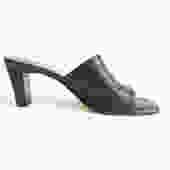 Vintage 90s Etienne Aigner Navy Blue Slides/ Minimalist Navy Blue Strap Pumps/Ventura/ Simple Slip On Shoes/ Size 7 7.5 8 by bottleofbread