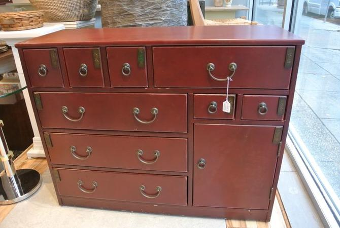 Red Asian Chest. $350