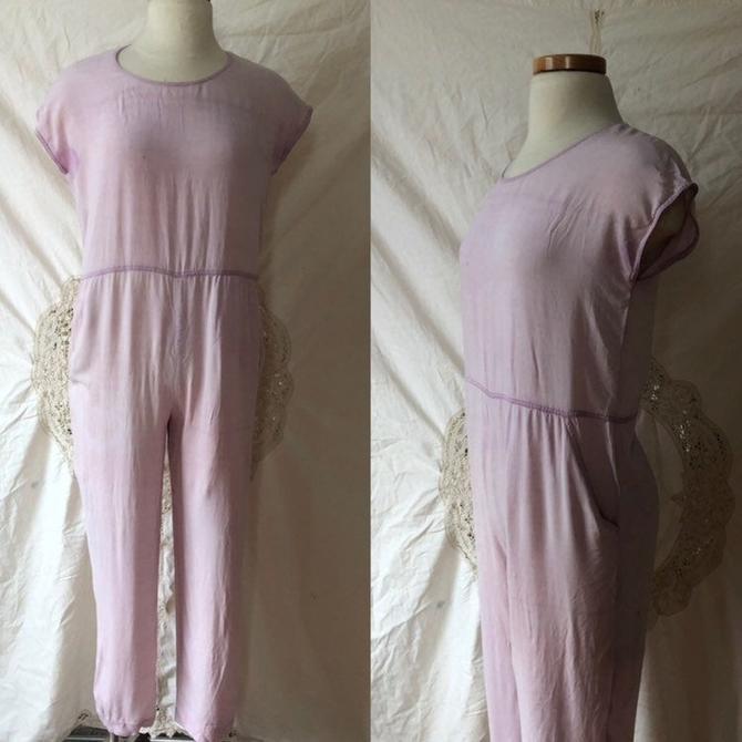 lavender 60s jumpsuit by DiscoLaundryVintage