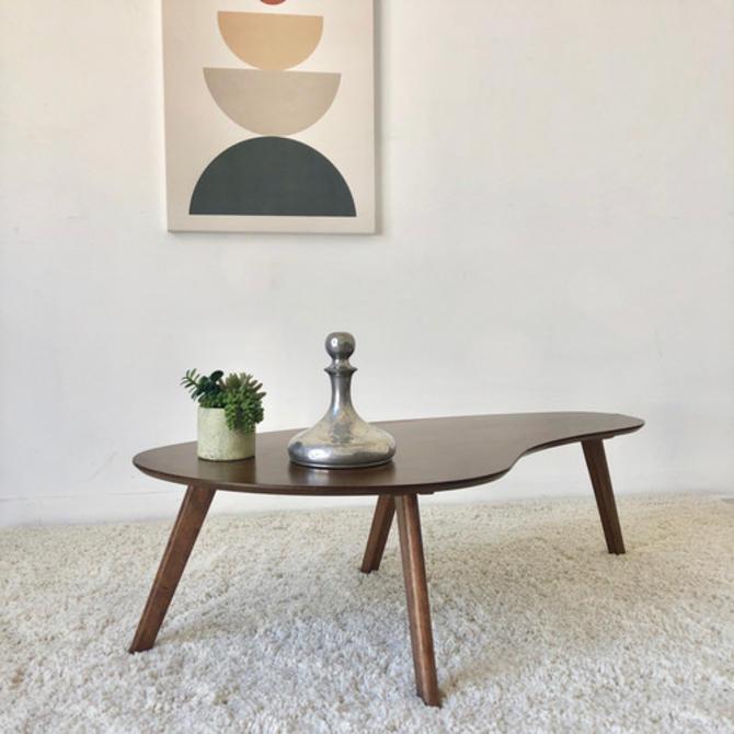 Walnut Boomerang Coffee Table