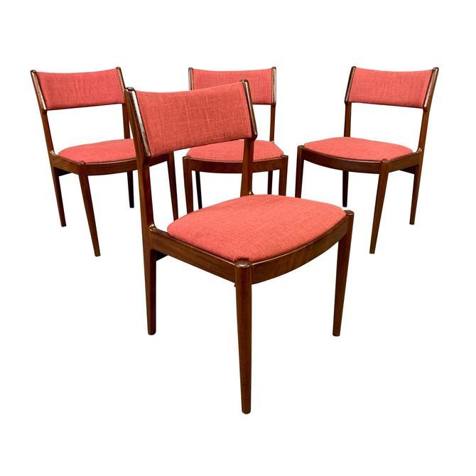 Vintage Danish Mid Century Modern Teak Dining Chairs. Set of 4. by AymerickModern