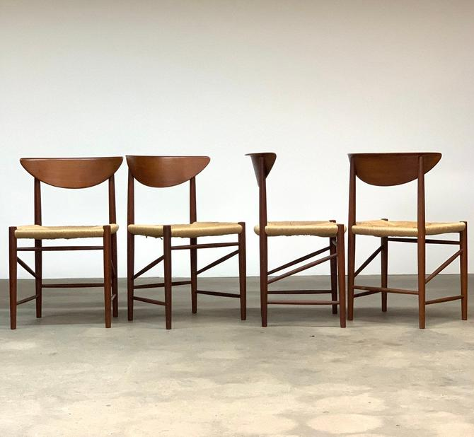 Hvidt + Molgaard Teak Model 316 Danish Dining Chairs by midcenTree