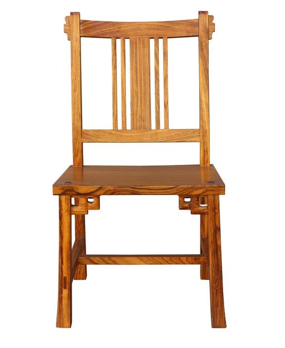 Quality Handmade Solid Zebra Wood Bar Back Simple Design Chair s2086E by GoldenLotusAntiques