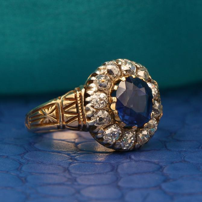 Bailey Banks And Biddle Burmese Sapphire Ring C1880 From Pippin Vintage Jewelry Of Chelsea New York Ny Attic