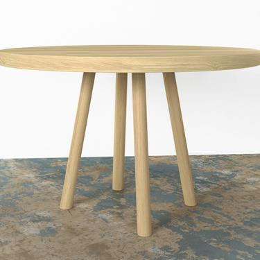 White Oak Round Dining Table FREE SHIPPING by OlivrStudio